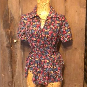 Vintage 70s homemade tunic with belt